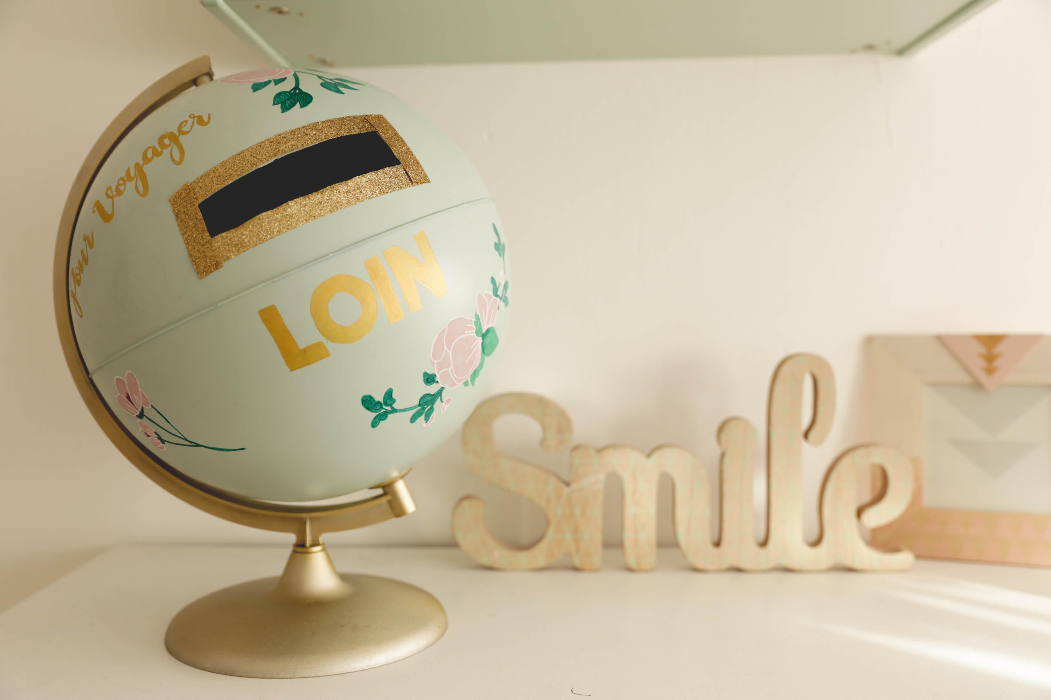 Recycler un globe en urne de mariage (DIY)