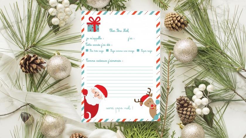 Lettre au Père Noël à télécharger